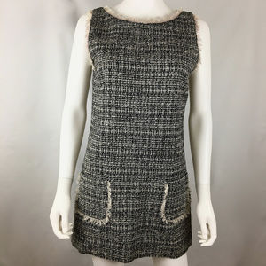 Guess By Marciano size S Tweed Shift Dress Frayed